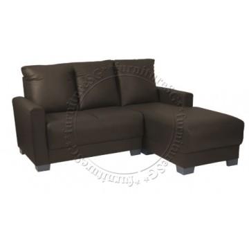 Clement L-Shape Sofa (Chocolate)