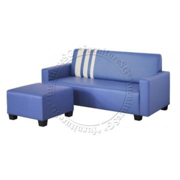 Charlie Sofa + Stool (Blue)